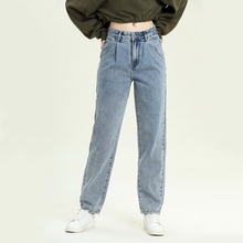 High Waist Straight Jeans Women 2020 Autumn Winter Boyfriend Loose Denim Pants Female Casual  Classic Long Jean New Pants