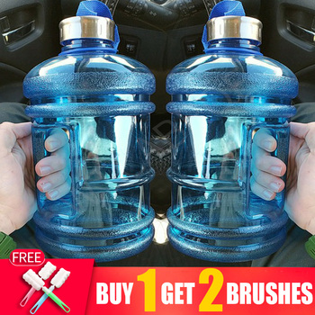 2.2L Outdoor Sports Gym Fitness Bottled Water Bottles for Training Camping Running Big Large Gourd Drink Bottle Capacity Kettle