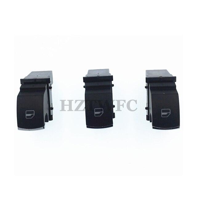 4 Piezas Set VW Cromado Interruptor de Ventana Control para 4 Puertas Passat