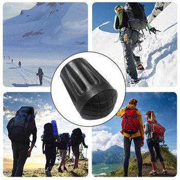 1pc Trekking Pole Tip Cover Rubber Anti-slip Feet For Hiking Cover Go Stick Poles Protectors Walking C9N0 image
