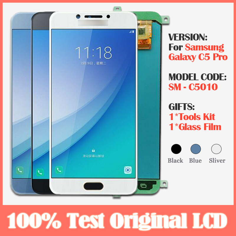 Original 5.2'' <font><b>lcd</b></font> <font><b>for</b></font> <font><b>SAMSUNG</b></font> <font><b>Galaxy</b></font> <font><b>c5</b></font> <font><b>pro</b></font> c5010 <font><b>LCD</b></font> Display <font><b>Screen</b></font> +Touch Digitizer Assembly <font><b>for</b></font> <font><b>Galaxy</b></font> <font><b>C5</b></font> <font><b>Pro</b></font> <font><b>lcd</b></font> <font><b>screen</b></font> image