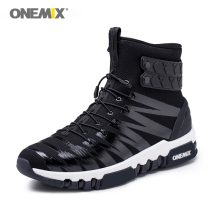 ONEMIX Boots for Men Running Shoes High Top Trekking Sport Shoes Crosser Fitness Outdoor Jogging Sneakers Comfortable Walking