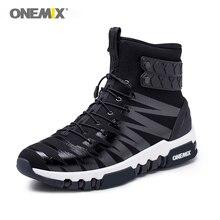 Onemix Laarzen Voor Mannen Loopschoenen Hoge Top Trekking Sportschoenen Crosser Fitness Outdoor Jogging Sneakers Comfortabele Wandelschoenen