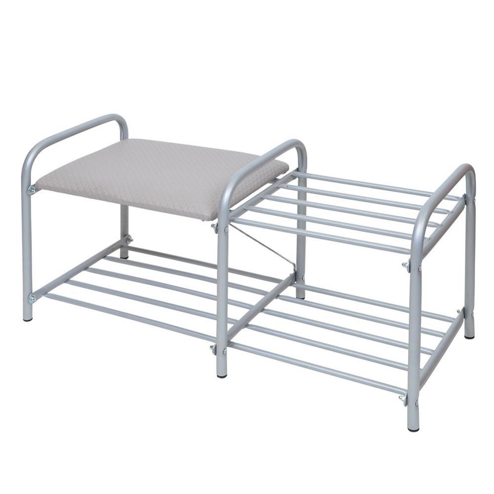 Hot Shoe Rack Aluminum Metal Shoe Hanger Shoes Storage Shelf Home Organizer Accessories Cabinet Furniture Two-Tier