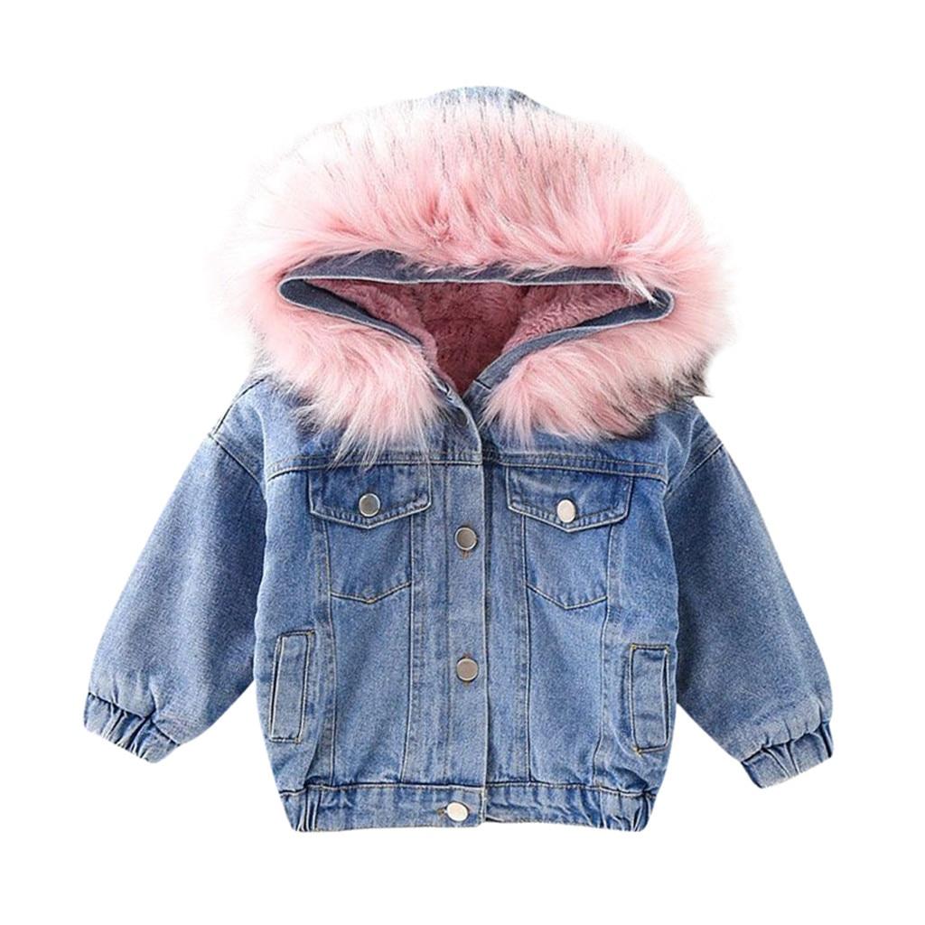 Multicolors Girls Fashion Faux Fur Jacket Kids Winter Warmer Thicken Plush Coat