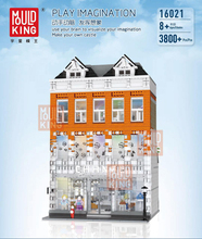 MOC Creator City Street Crystal House Building Blocks with Light Set Bricks Model Kids Toys Compatible with legoinged DIY Gifts lepin toys 17003 creator expert sydney opera house 2989pcs building blocks australia s architectural compatible with legoinglys
