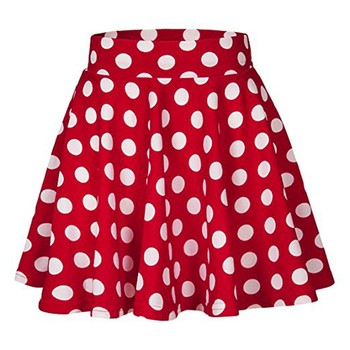 Summer Skirt 2020 Skirts Womens Fashion Party Cocktail Dot Printed Skirt High Waist Midi Skirt Women Short Skirt NEW