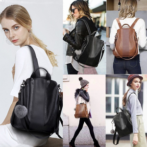 Image 5 - 2020 New Fashion Women Backpack Vintage PU Leather shoulder bag Backpacks large capacity For Female Travel Bags Mochila School