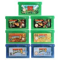 32 Bit Trò Chơi Hộp Mực Tay Cầm Thẻ Donke Kong Series Hoa Kỳ/EU Phiên Bản Dành Cho Máy Nintendo GBA
