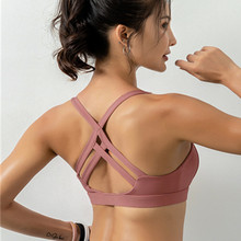 GOGNGTR New Women sport bra Wire-Free Cross Beauty Back Sports