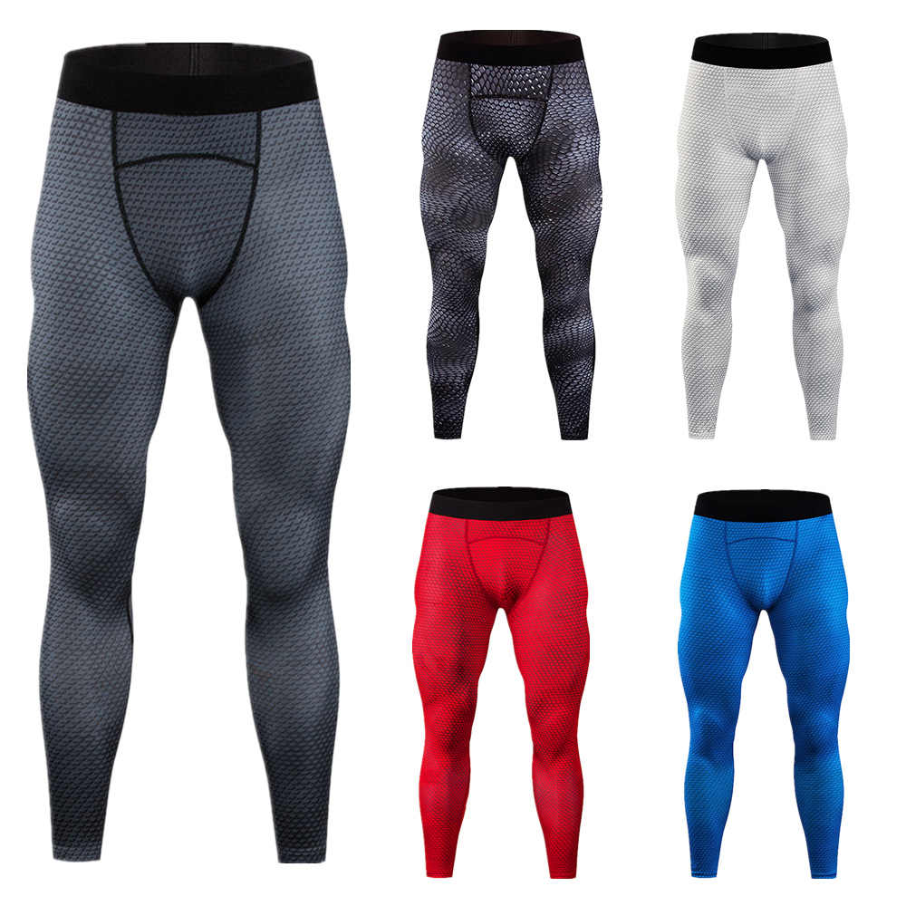 Pria Kompresi Celana Olahraga Lari Celana Ketat Legging Kebugaran Olahraga Celana Ular Gym Pelatihan Celana Kurus Leggins Hombre