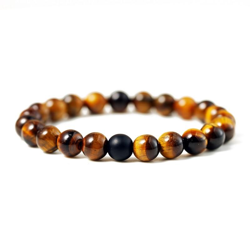 Hot 2pcs/set 7 Style Couples Distance Bracelet Natural Stone Yoga Beaded Bracelet for Men Women Friend Gift Charm Strand Jewelry