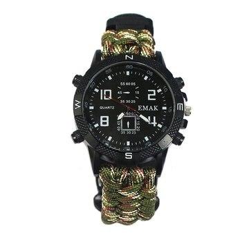 цена на Lifeline whistle compass Waterproof Watches LED Digital Outdoor Sports Watch Men Multifunction Watch G Style Shock Quartz Watch
