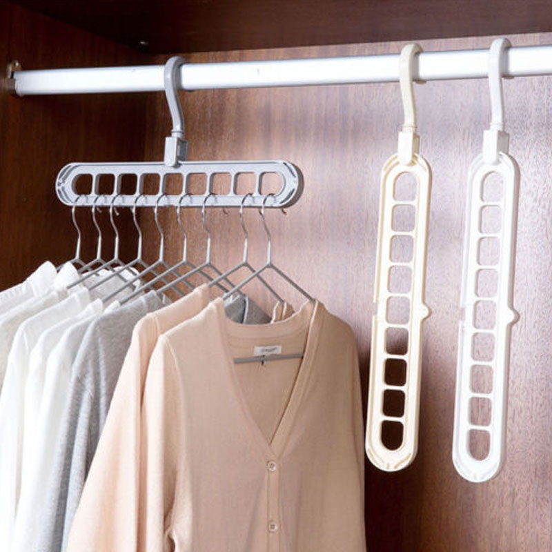 9 hole magic clothes hanger multi-function folding hanger rotating clothes hange