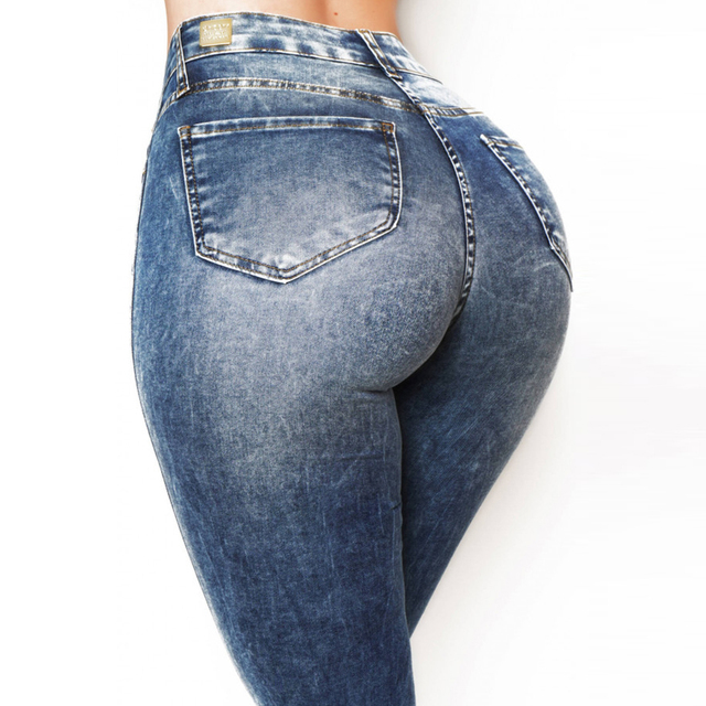 Stretch Distressed Jeggings 8