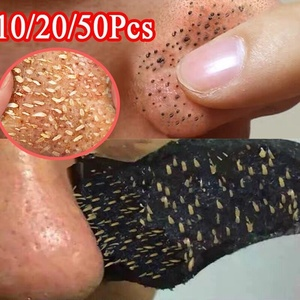50pc Bamboo Charcoal Blackhead Remover Mask Black Dots Spots Acne Treatment Mask Nose Sticker Cleaner Nose Pore Deep Clean Strip