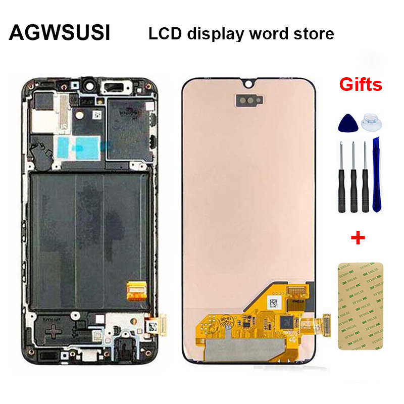 AMOLED For <font><b>Samsung</b></font> Galaxy <font><b>A40</b></font> 2019 A405FN/DS <font><b>LCD</b></font> Display Touch Screen Digitizer Sensor Assembly Replacement image