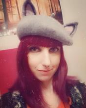 2019 New Women Warm Winter Wool Cat Ear Beret Hat Princess Sweet Lolita Handmade Grey Novelty Rabbit Girl Animal Cap