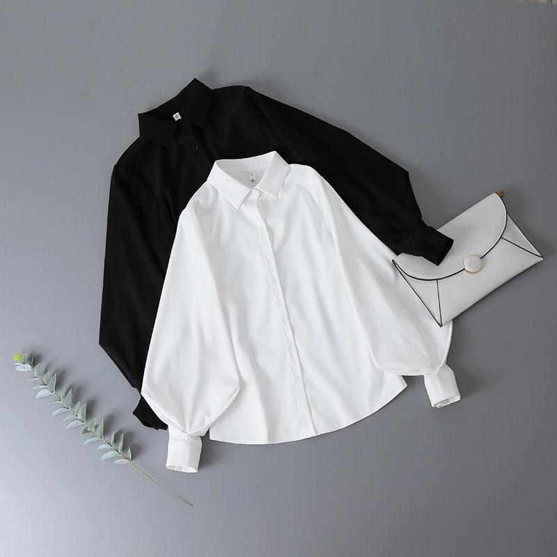 Блузка женская с пышными рукавами, на пуговицах