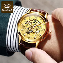 Top luxury fashion automatic mechanical men watches hot style hollow insert diamond  waterproof man watch business reloj hombre loreo authentic automatic mechanical watch waterproof belt diamond fashion luxury elegant hollow lady watch