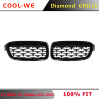 A Pair For BMW 3Series F30 Diamond Grille Front Bumper Grille 2012 2019