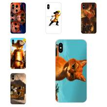 TPU Baskı Telefon Apple iPhone X XS Max XR 4 4S 5 5S 5C 5S SE 6 6S 7 8 Artı Shrek Çizmeli kedi(China)