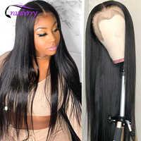Peluca de cabello liso con hueso de arándano, Peluca de parte media/Derecha, pelucas de cabello humano malayo Remy para mujeres negras, línea de cabello Prelucked