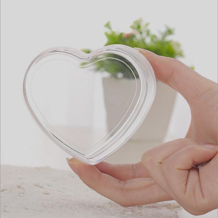 12 pièces de qualité alimentaire clair coeur en plastique boîte à bonbons Transparent faveurs de mariage et cadeaux de mariage boîte à bonbons événement fête fournitures - 3