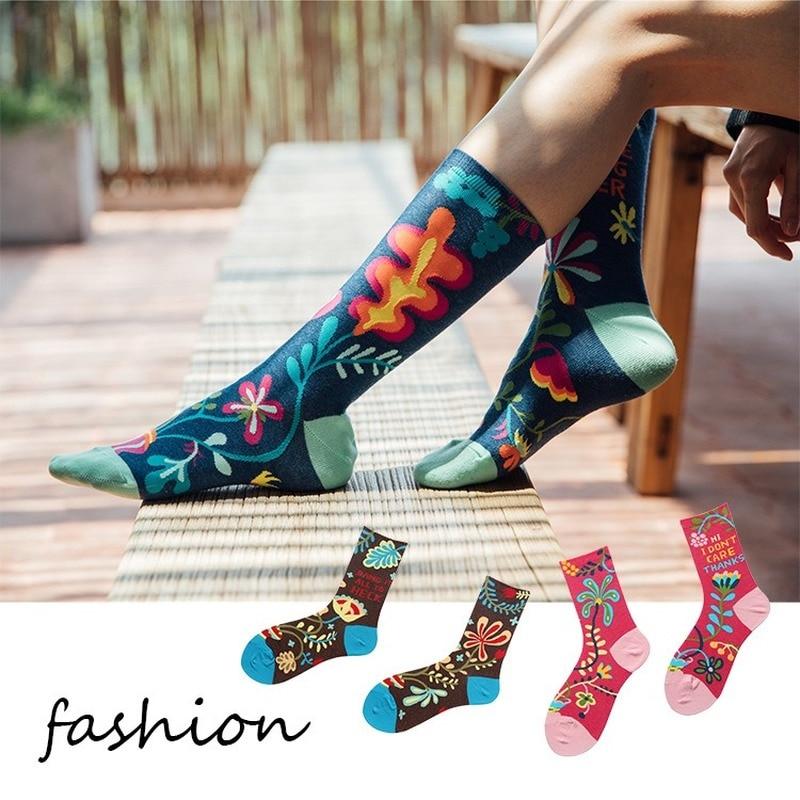 Jeseca 1 Pair Female Harajuku Vintage Streetwear Winter Socks 2019 Autumn Cartoon Cute Socks Girls Lovely Christmas Sock Gifts