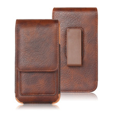 Universal Leather Case for iPhone Samsung Huawei Xiaomi Mens Waist Pack Belt Cli
