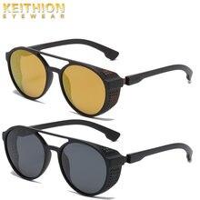 Солнцезащитные очки keithion для мужчин и женщин круглые поляризационные