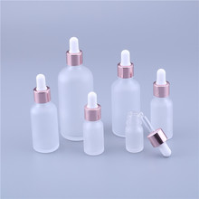 Glass-Dropper-Bottle 100ml Frosted Essential-Oil Rose-Gold 50ml for with 200pcs/Lot 15ml