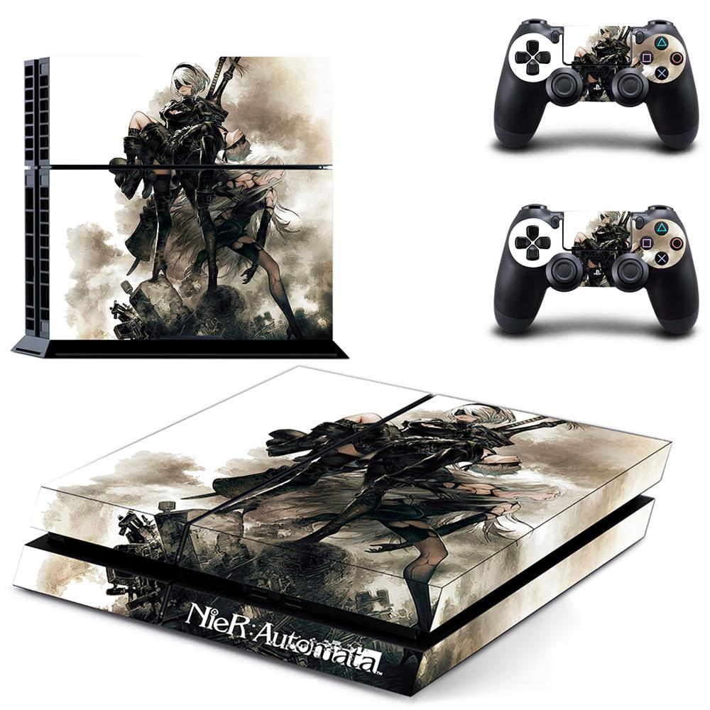 Game NieR Automata PS4 Skin Sticker Decal Vinyl for Sony Playstation 4 Console and 2 Controllers PS4 Skin Sticker