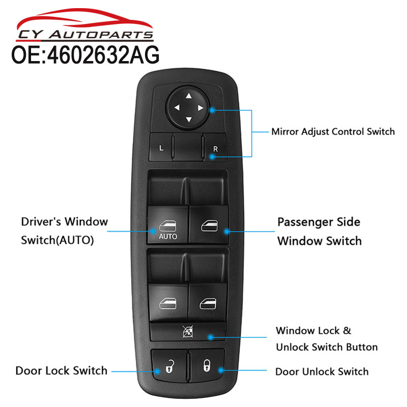 Energetic Yaopei 4602632ag New-master Power Window Door Switch Driver Side For Dodge Journey Nitro Jeep Liberty Distinctive For Its Traditional Properties