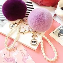 Plush Keychain Toys Key-Ring Gifts Women Kawaii Cute for Girls Bag Kids