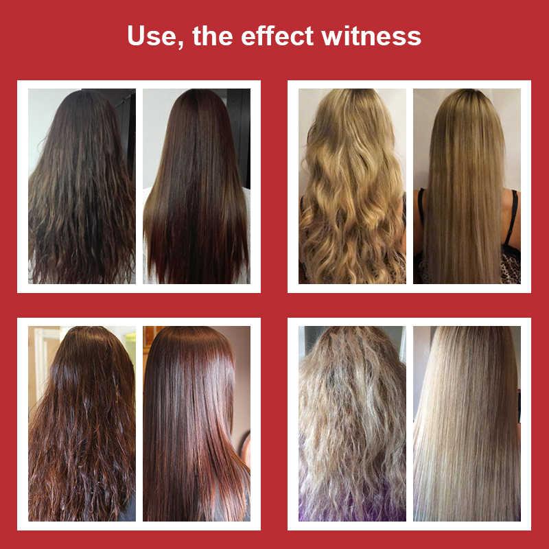 Najtańszy zestaw 100ML keratynowa terapia dla włosów Formalin 8% + 100ML szampon oczyszczający + 10ML olej arganowy do prostowania i odbudowa włosów