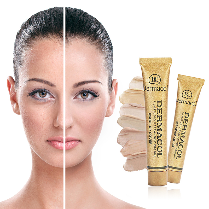 Corrector Cream Concealer Circle-Cover Oil-Control Cosmetics Tattoo-Eye-Dark Skin-Color