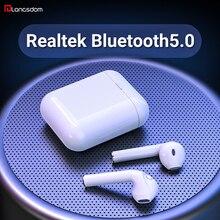 Langsdom T7R Realtek 블루투스 5.0 이어폰 진정한 무선 이어폰 헤드폰 스테레오 이어폰 마이크와 전화 아이폰 Xiaomi