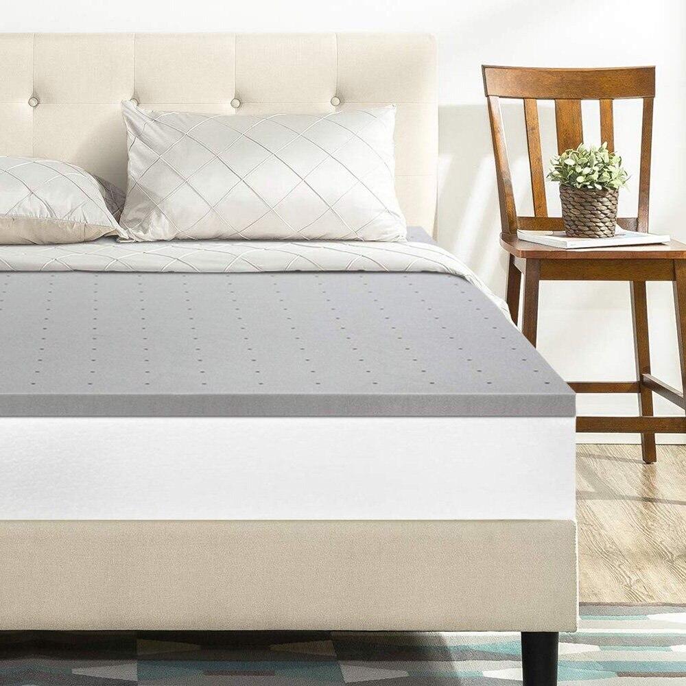 7.5/10cm épaisseur gel mémoire surmatelas en mousse lit complet reine roi double taille bambou charbon de bois Tatami futon lit meubles