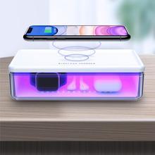 TOTU Wireless Charging Sterilization Box Smartphone Sterilizer UV Light Box Disinfection for iPhone 8 8Plus X XS Max 11 Pro Max