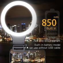 XJ31S ĐÈN LED Dimmable Trang Điểm Nhẹ Selfie Ring Light Xoay Được Lấp Đầy Ánh Sáng Phát Sóng Trực tuyến Chụp Ảnh Chiếu Sáng