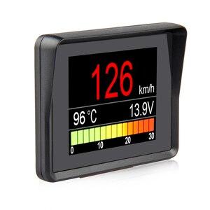 Image 1 - A203 OBD2 i staje w sytuacji sam na sam komputer pokładowy samochód cyfrowy monitor do komputera prędkościomierz paliwa licznik zużycia wskaźnik temperatury OBD2 skaner