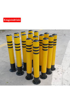Road-Construction-Equipment Traffic with Spiral-Bottom Round-Pipe Active Steel Pile/Post