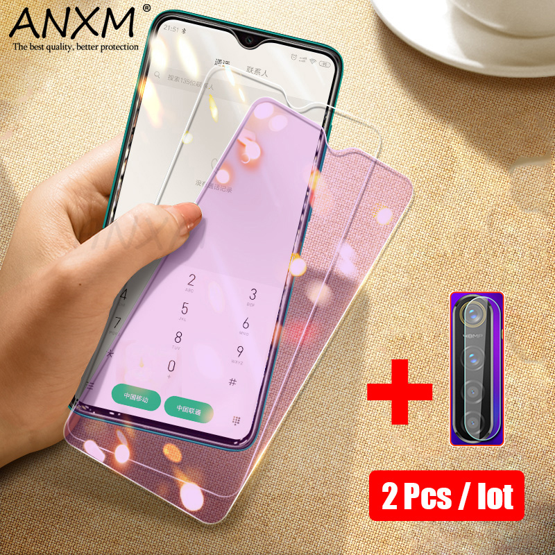 Tempered Glass For OPPO Realme X2 5 Pro X XT Q Protective Anti Blue-ray Full Screen Protector For Realme Q X XT X2 5 3 Pro Glass