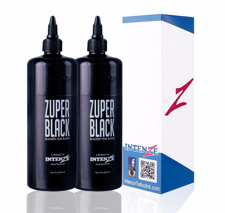 Tattoo Artist Ink Set Zuper Black Tattoo Ink 12 Ounce