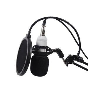 Image 2 - BM800 Condenser Microphone Kit Studio Suspension Boom Scissor Arm Sound Card White