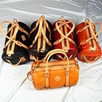 WOMEN'S Leather Bags Shoulder Bag/ Hand Bag Shoulder Bag Europe And America Import Full grain Leather Retro Skeleton skin Bag