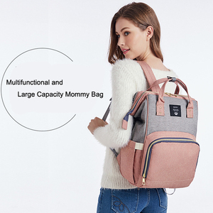 Image 5 - Nappy Backpack Bag Mummy Large Capacity Bag Mom Baby Multi function Waterproof Outdoor Travel Diaper Bags For Baby Care