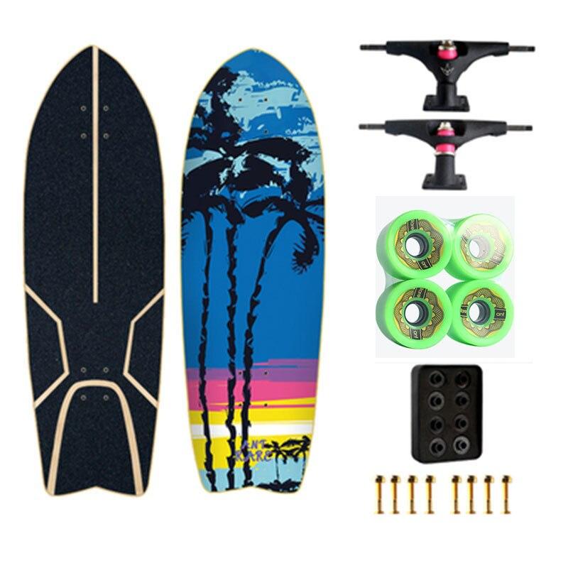 Land Carver 2 génération flambant neuf planche de Surf planche à roulettes direction nid gratuit ski Surf formation