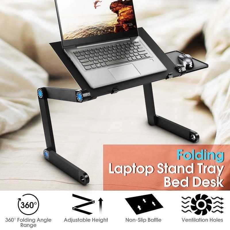 Складной стол для ноутбука, регулируемая подставка на 360 градусов, портативный поднос для ноутбука, дивана, кровати